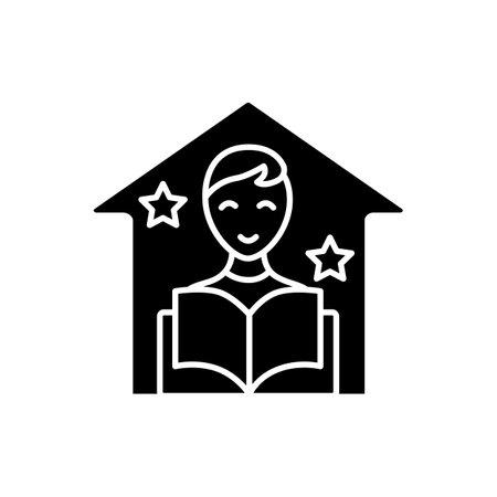 Fun education glyph icon