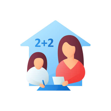 Math lesson flat icon