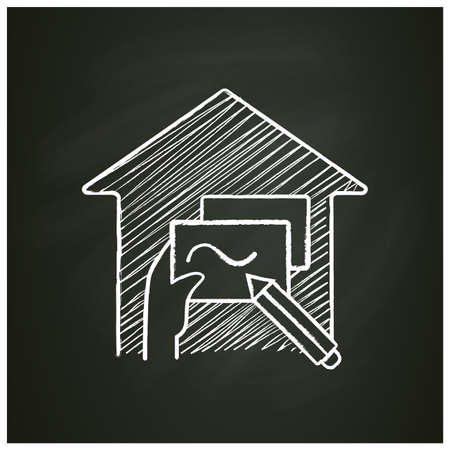 Flexible schedule chalk icon