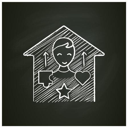 Real-life skills chalk icon