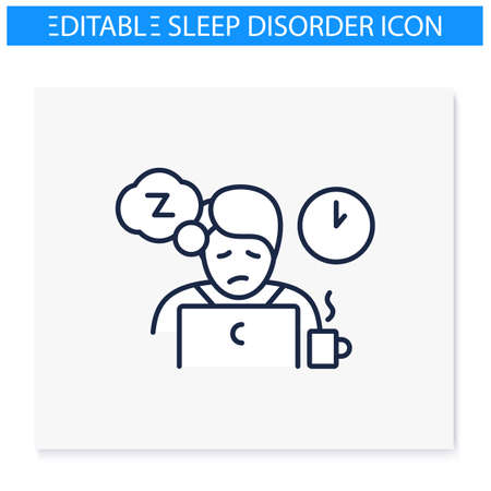 Daily nap need line icon
