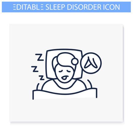 Restless legs syndrome line icon
