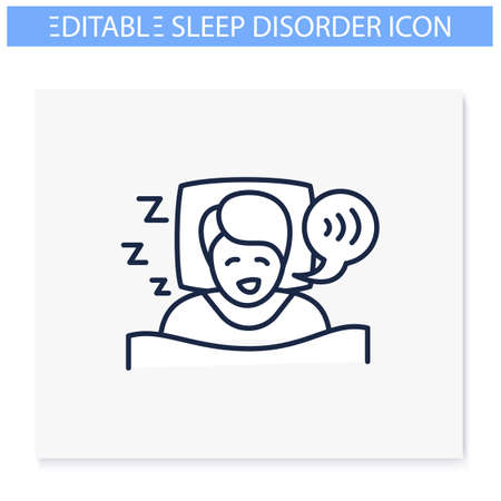 Sleep talking line icon