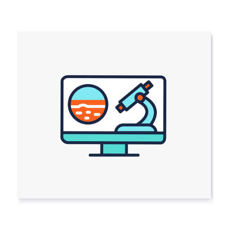 Teleoncology color icon