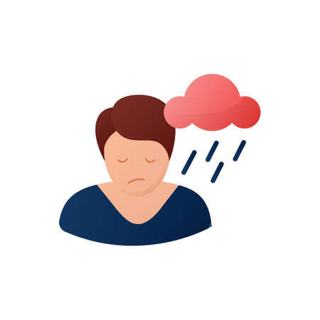 Depression flat icon