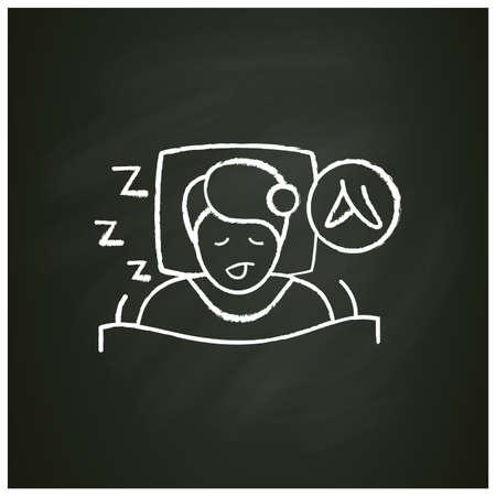 Restless legs syndrome chalk icon