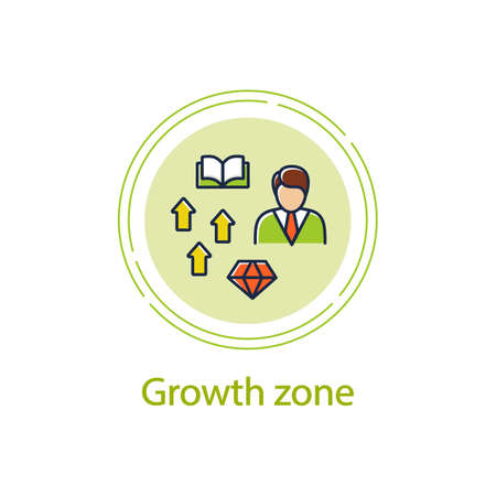 Growth zone concept line icon