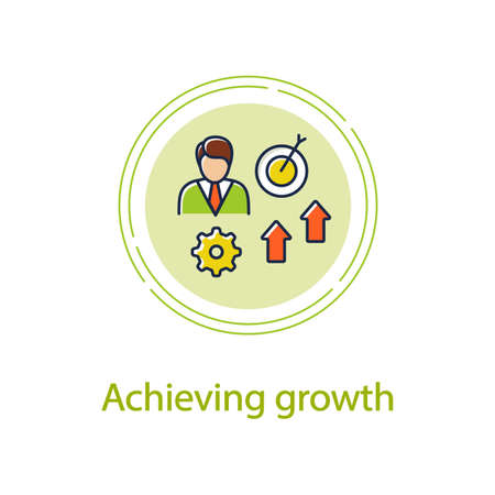 Achieving growth concept line icon