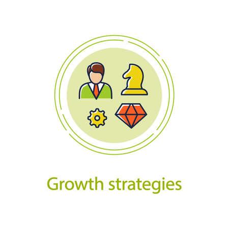 Personal growth strategies concept line icon Ilustración de vector