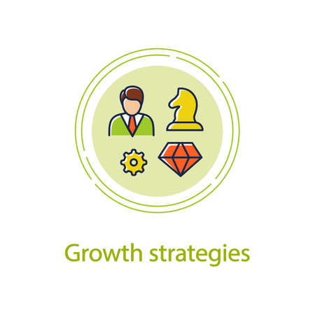 Personal growth strategies concept line icon