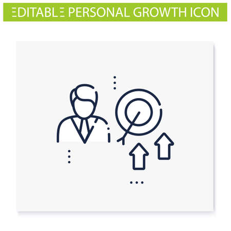 Achieving growth line icon