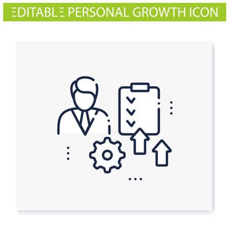 Personal development plan line icon