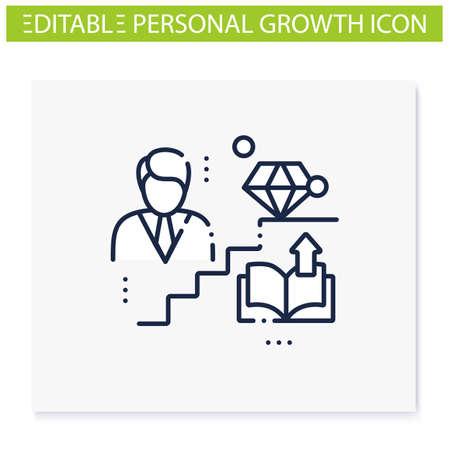 Personal growth line icon Ilustración de vector