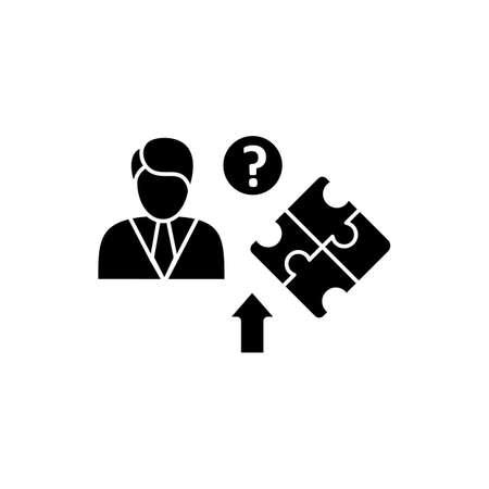 Self knowledge improving glyph icon