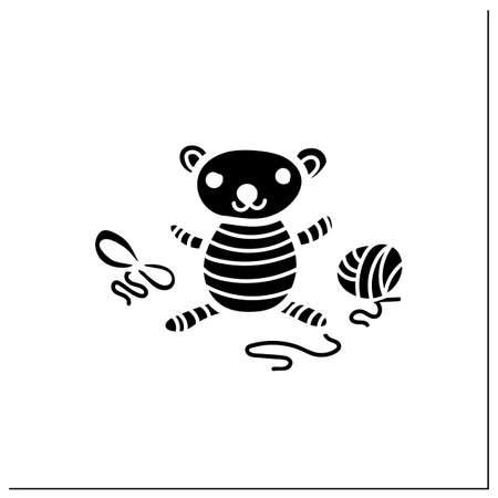 Amigurumi handmade glyph icon
