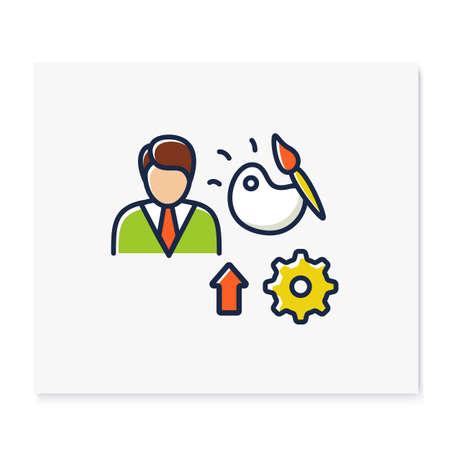 Talents development color icon Ilustración de vector