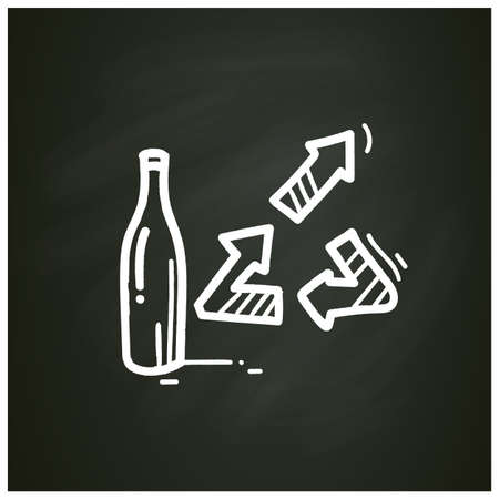 Upcycling chalk icon