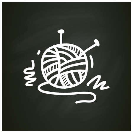 Knitting chalk icon Illustration