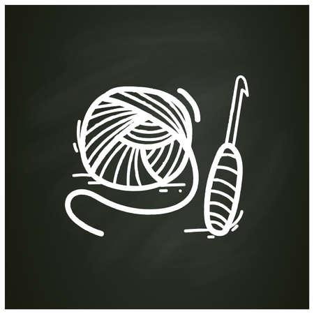 Crochet basics chalk icon