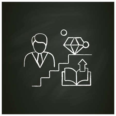 Personal growth chalk icon Ilustración de vector