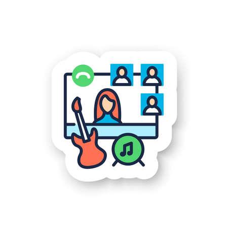 Online music concert color sticker