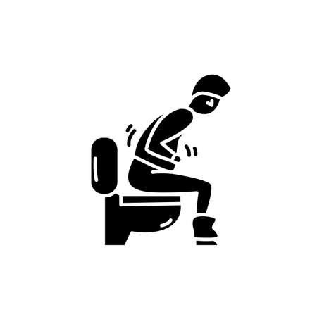 Virus diarrhea glyph icon