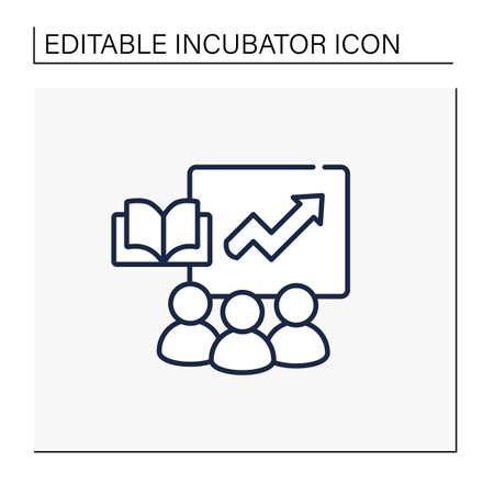 Business training programs line icon 向量圖像