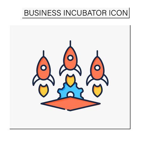 Startup studio color icon