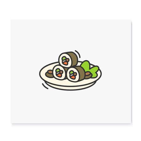 Kimbap color icon