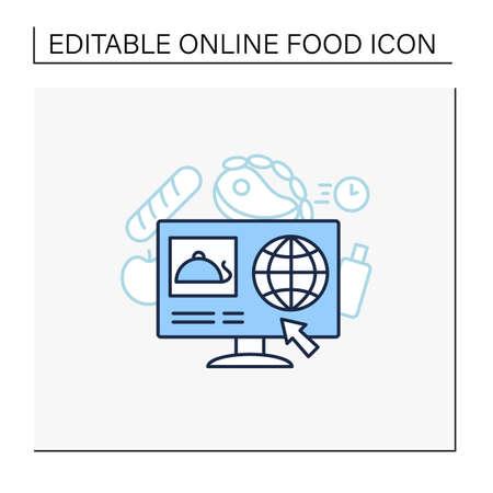 Dark store line icon