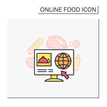 Dark store color icon