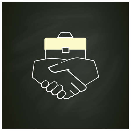 Business agreement chalk icon