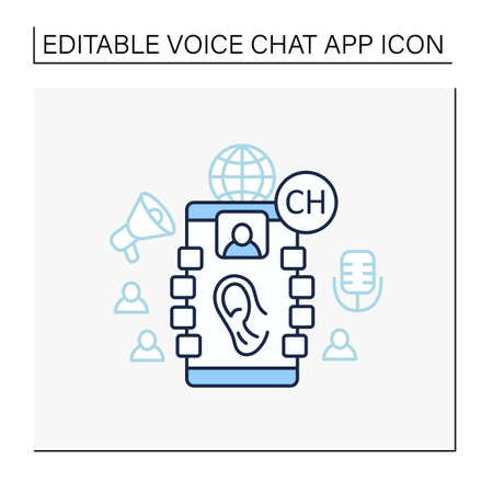 Listeners line icon Vektorgrafik