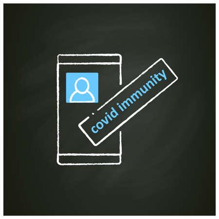 Covid immunity chalk icon