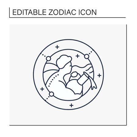 Aquarius line icon