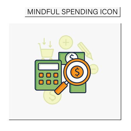 Track spending color icon