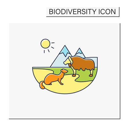 Tundra color icon Vector Illustratie
