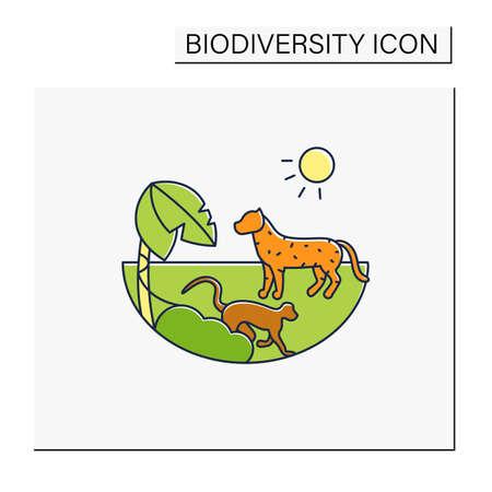 Tropical rainforest color icon