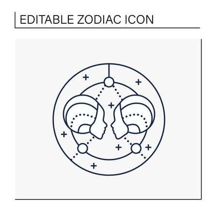 Gemini line icon