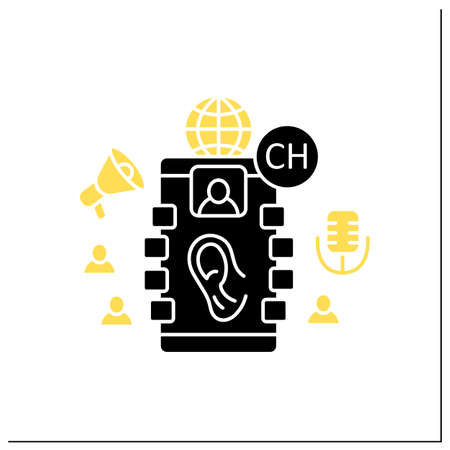 Listeners glyph icon Vektorgrafik