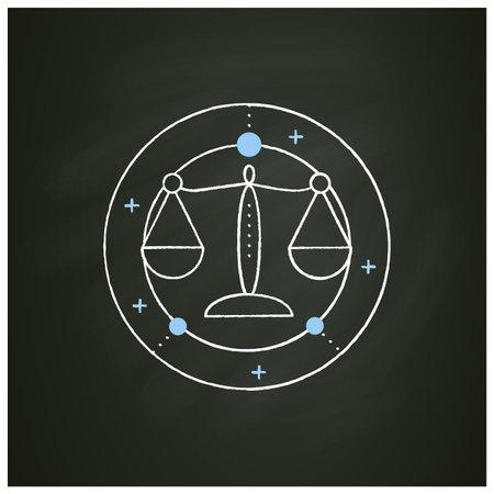 Libra chalk icon