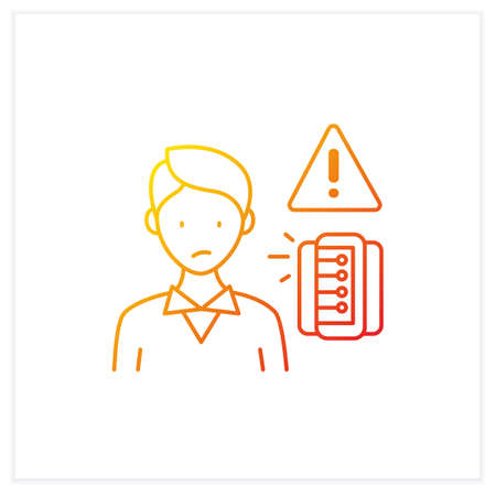 Information anxiety gradient icon