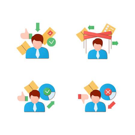 Election flat icons set
