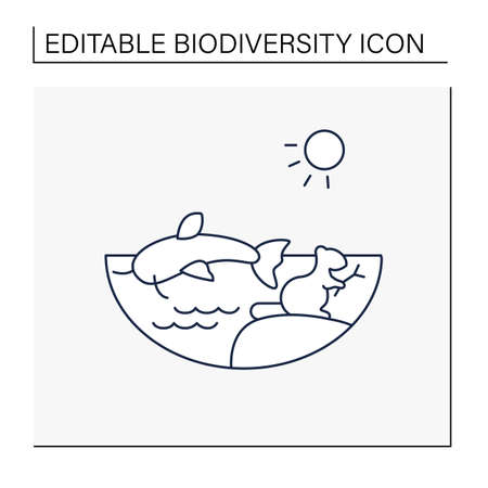 Freshwater line icon