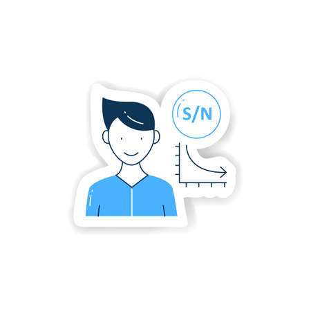 Low signal sticker icon