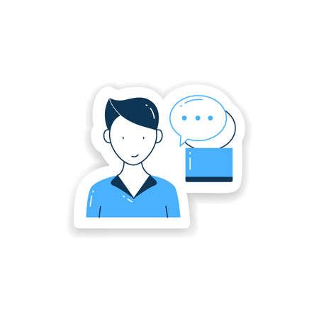 Instant messaging sticker Vetores