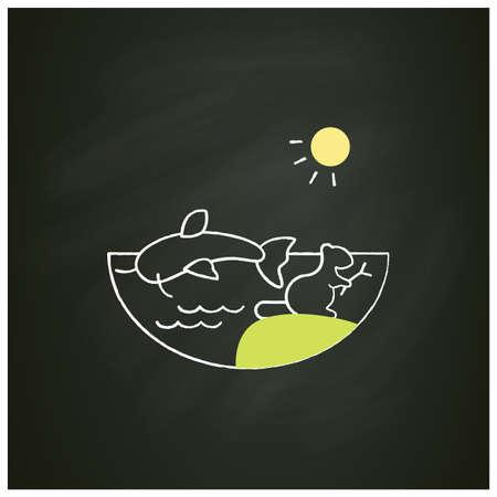 Freshwater chalk icon