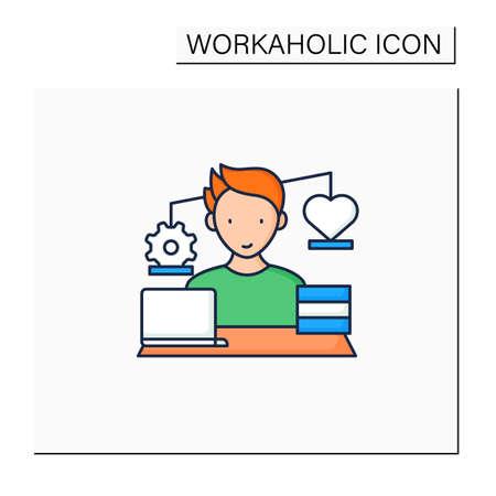 Workaholic color icon