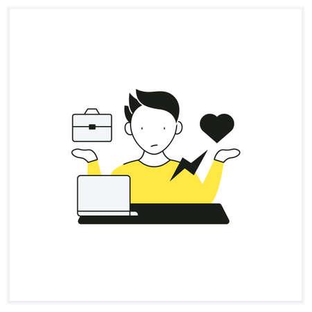 Workaholic flat icon