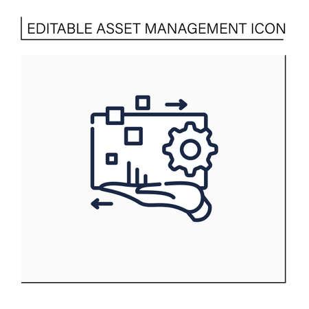 Digital asset management line icon